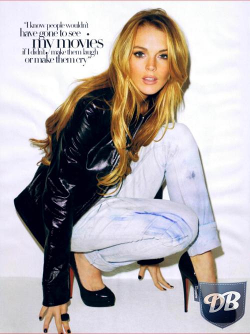 Lindsay Lohan Harpers Bazaar 2008 Alternate Cover